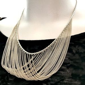 Vintage 925 Chain Waterfall Necklace